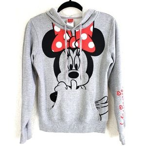Disney Minnie Mouse Pullover Hoodie Pocket Sweater